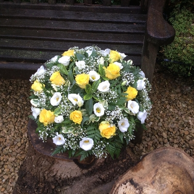 Loving Floral Rose and Gypsophillia Posy Pad Yellow