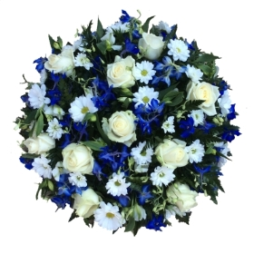 Blue and White floral posy